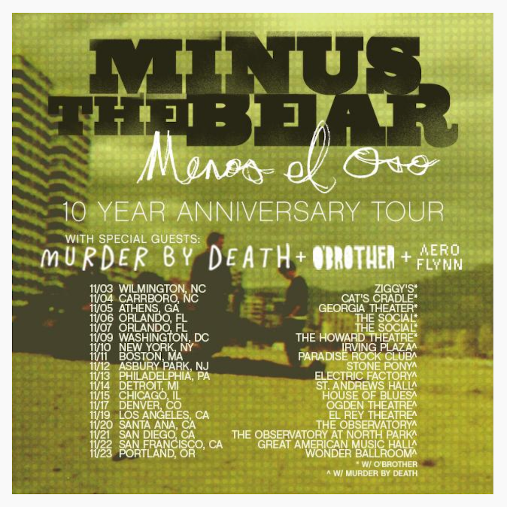 Minus The Bear Fall 2015 Instagram