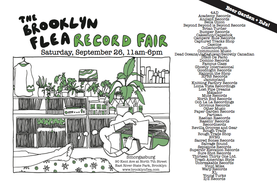 Record Fair postcard